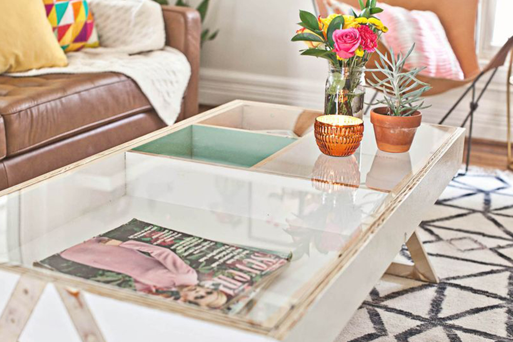 Coffee table storage solutions