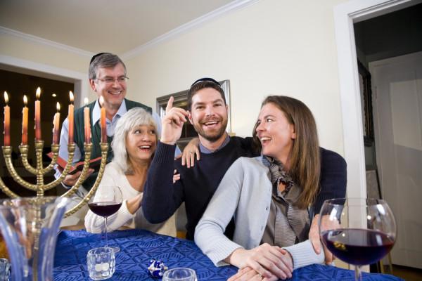 Family on Hanukkah