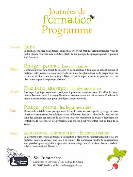 Formation Jardin Agroecologique A Saint Christophe La Grotte