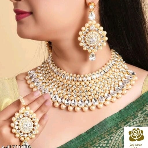 Shining graceful jewelery set.  .  .  .  Price – 399 Unboxing video is a must for any complaints.  .