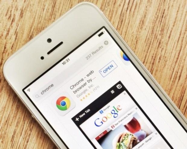 Браузер Chrome для iOS на iPhone