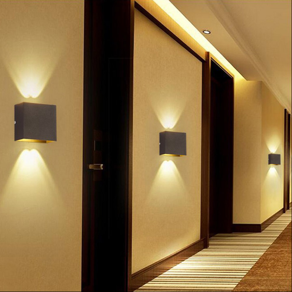 6W LED Square Wall Lamp Hall Porch Walkway Bedroom ... on Decorative Wall Sconces Non Lighting id=77202