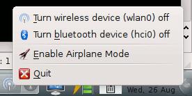 KDE Airplane Mode