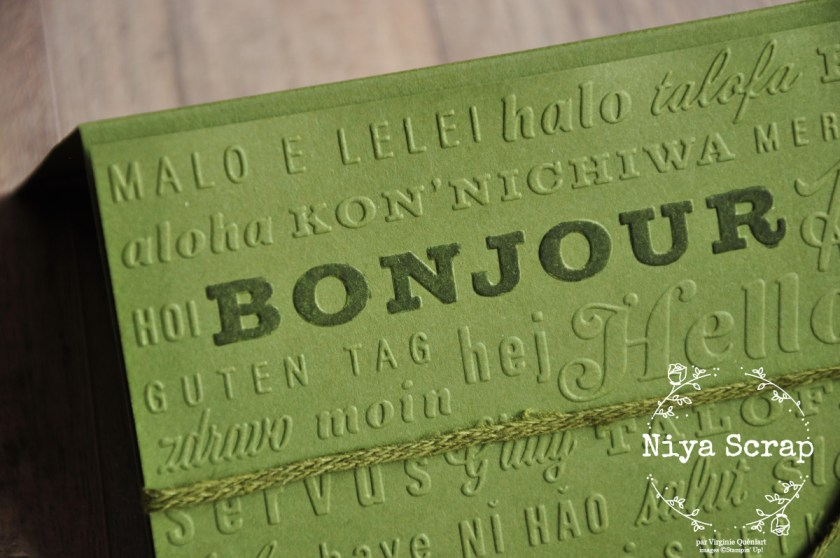 Niya Scrap - Carte Monochrome - Blog Hop des Sweet Ladybirds - Matériel Stampin' Up!