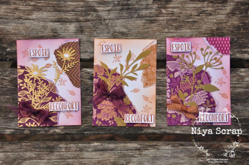 Niya Scrap - ATC Automne - Blog Hop des Sweet Ladybirds - Matériel Stampin' Up!