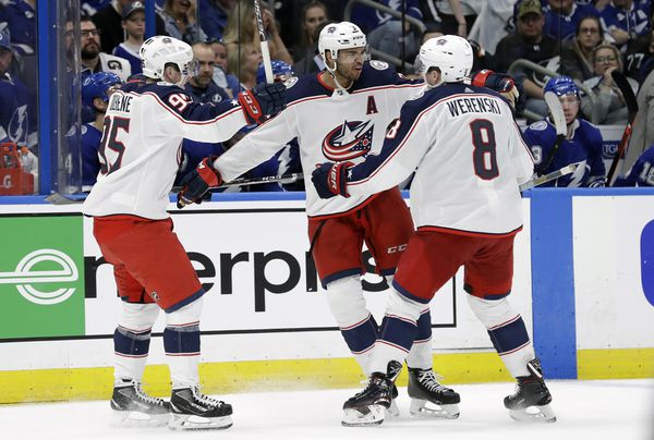 The Columbus Blue Jackets face the Tampa Bay Lightning in game two of their 2019 Stanley Cup Playoffs first round series on Friday night. (AP Photo | Chris O'Meara)