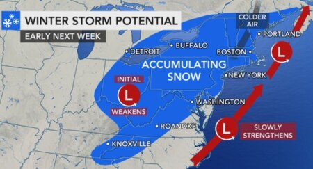 N.J. weather: Snow, snowfall, winter storm timing track forecast