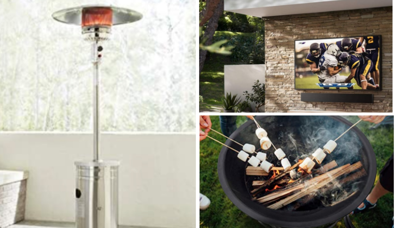 where to buy patio heaters fire pits
