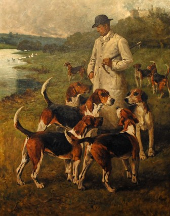 """""""The Pride of the Belvoir,"""" by John Emms (1904), oil on canvas."""