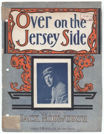 "The sheet music to ""Over on the Jersey Side."""