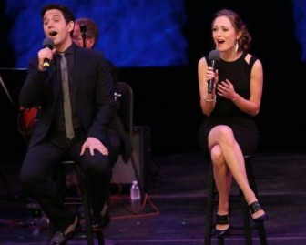 Broadway veterans Santino Fontana and Laura Osnes presented a set of duets at NJPAC on Sunday.