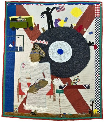 """""""Rosa Parks I,"""" by Yvonne Wells, is part of the Montclair Art Museum exhibit, """"From Heart to Hand: African-American Quilts From the Montgomery Museum of Fine Arts."""""""