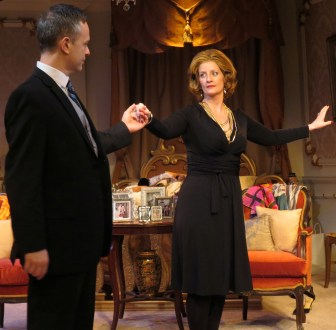 "Christopher Daftsios and Judith Hawking co-star in ""Swimming at the Ritz,"" which is at  the New Jersey Repertory Company in Long Branch through Feb. 1."