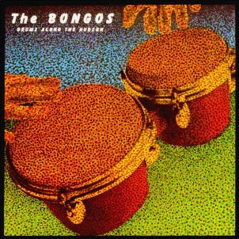 "The cover of The Bongos' debut album, ""Drums Along the Hudson."""