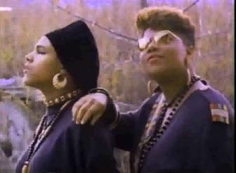 Queen Latifah, right, and Monie Love in the video for