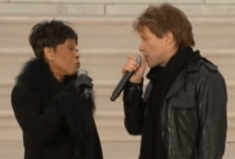 "Bettye LaVette and Jon Bon Jovi sing ""A Change Is Gonna Come"" together in 2009, to honor President Obama's first inauguration."