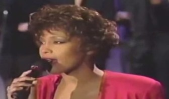 "Whitney Houston performs ""Do You Hear What I Hear?"" on ""The Tonight Show"" in 1990."
