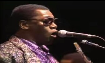 Clarence Clemons sings with Ringo Starr's All-Starr Band in 1989.