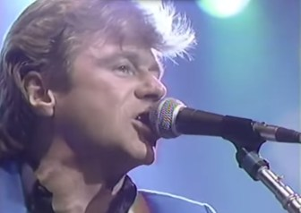 "Dave Edmunds sings ""Johnny B. Goode"" at the Capitol Theatre in 1984."