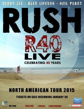 Rush's 40th anniversary tour, R40 Live, will come to Newark and New York.