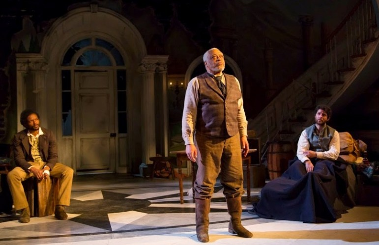 "From left, Luke Forbes, Ron Canada and Adam Gerber co-star in ""The Whipping Man"" at George Street Playhouse."