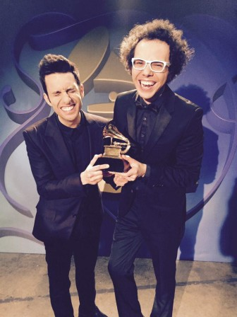 A Great Big World tweeted out this photo after winning a Grammy.
