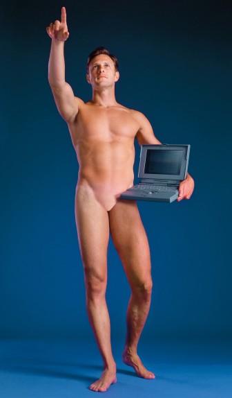 """""""Man With a Computer,"""" by Aziz + Cucher"""