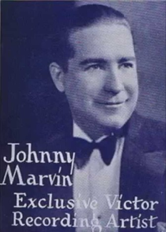 Singer and ukulele player Johnny Marvin.