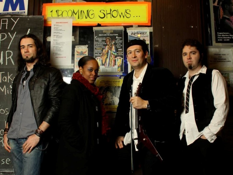 Stratospheerius, led by Joe Deninzon, third from left, performs at Roxy and Dukes in Dunellen on Saturday.