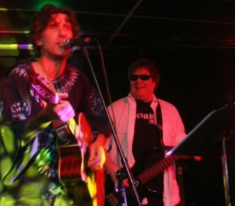 Alan Smith, left, and Gerry Griffin of The Porchistas perform at the Wonder Bar in Asbury Park on Friday.