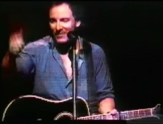 Bruce Springsteen at the Continental Airlines Arena in East Rutherford, in July 1999.