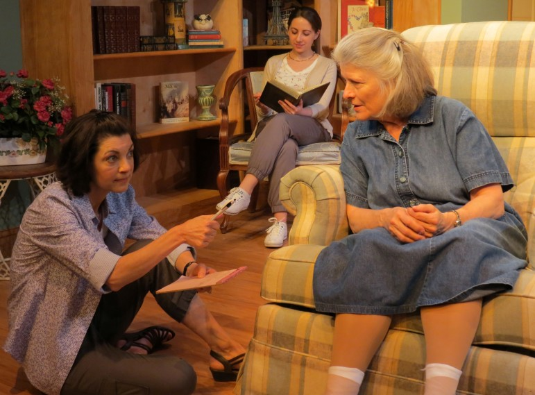 "From left, Dana Benningfield, Jenny Vallancourt and Marnie Andrews co-star in ""The Realization of Emily Linder,"" which is at the New Jersey Repertory Company in Long Branch through May 17."