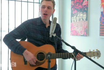 "Joel Plaskett sings his ""Song for Jersey."""