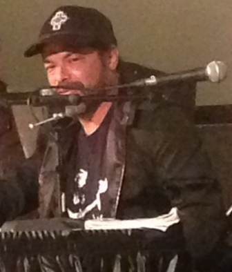 "Robert Trujillo of Metallica talks about ""Jaco"" at the Paramount Theatre on Saturday."