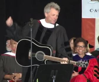Jon Bon Jovi at today's Rutgers-Camden commencement ceremony.