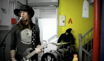 "The Dead Exs filmed their video for """" at Asbury Lanes."