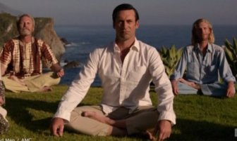 """Don Draper, played by Jon Hamm, achieves enlightenment in the """"Mad Men"""" finale."""