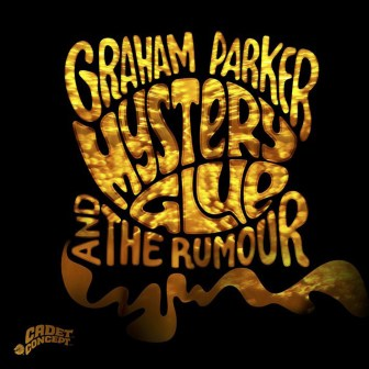 "The cover of the new Graham Parker and the Rumour album, ""Mystery Glue."""