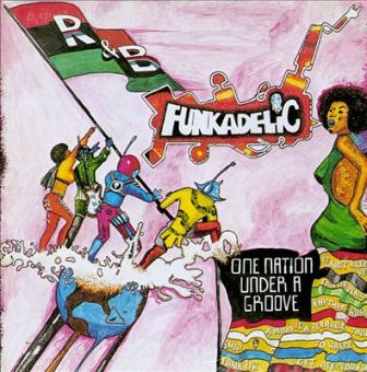 "The cover of the 1978 Funkadelic album, ""One Nation Under a Groove."""