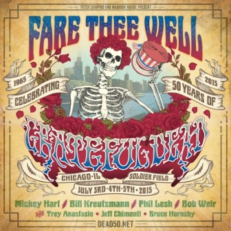 """""""Fare Thee Well,"""" the last series of shows by The Grateful Dead, ends Sunday in Chicago."""