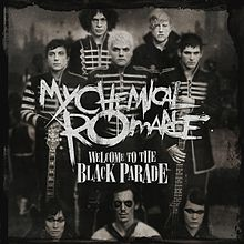 "The cover of the My Chemical Romance single, ""Welcome to the Black Parade."""
