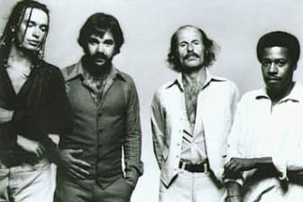 Weather Report, circa 1978 (from left, Jaco Pastorius, Peter Erskine, Joe Zawinul and Wayne Shorter).