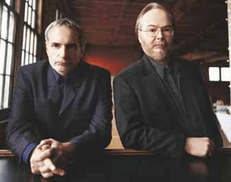 Donald Fagen, left, and Walter Becker brought their band Steely Dan to the PNC Bank Arts Center in Holmdel on Saturday.