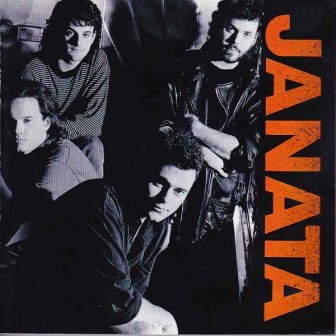 The cover of Janata's self-titled 1990 album. Mike Lustig is at top, right.