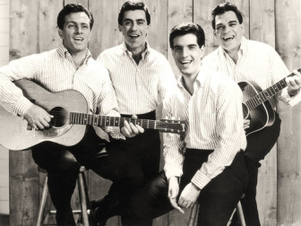 From left, Tommy DeVito, Frankie Valli, Bob Gaudio and Nick Massi of The Four Seasons, in an early publicity photo.