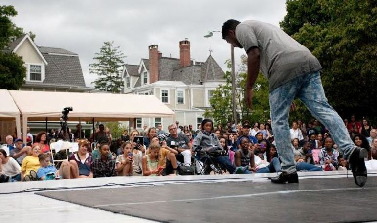 "Maurice Chestnut performs at Saturday's ""Dance on the Lawn"" festival in Montclair."