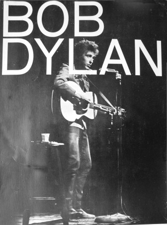 This image was used on various posted advertising Bob Dylan concerts in the fall of 1965.