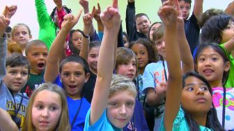 "Students featured in the first episode of ""Here's the Story."""