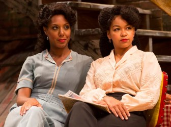 """Christina Acosta Robinson, left, and Crystal A. Dickinson in """"Seven Guitars."""""""
