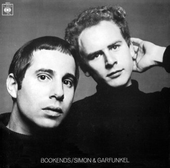 """Paul Simon and Art Garfunkel on the cover of their 1968 album, """"Bookends."""""""